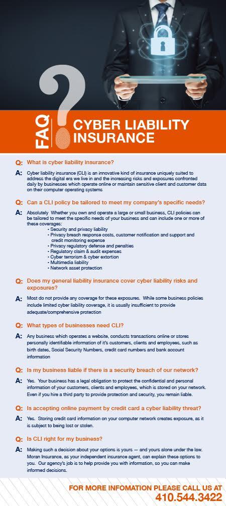 moran cyber liability insurance FAQ