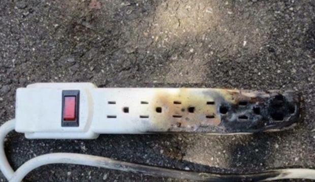 do not plug space heaters into power strips